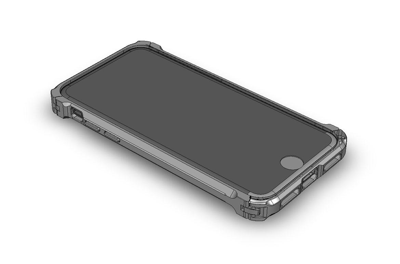 DECASE for iPhone SE 2020 アルミニウムバンパー